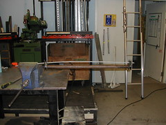 Basic jig for truing trapeze thimbles