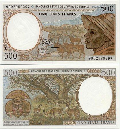 Central African Republic 500 Francs 1999