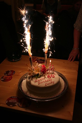 big birthday cake sparklers