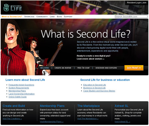 second life what is web page linden lab