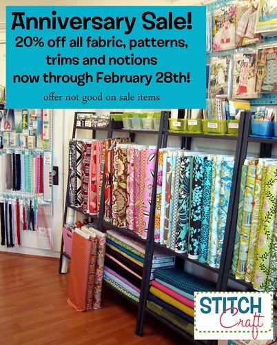 StitchCraft anniversary sale!