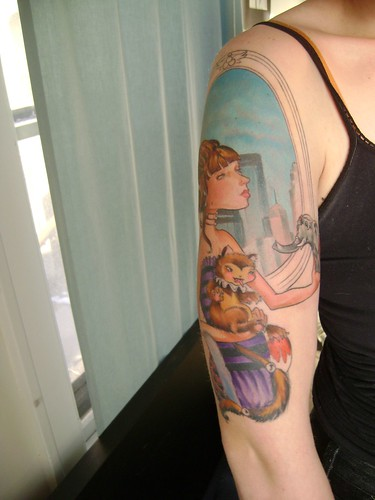 skyline. tattoo. tattoo progression