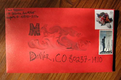 Muppet envelope