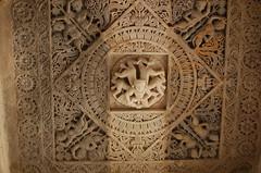 Jain temple at Ranakpur - India (Sarah Sollom) Tags: india archaeology vishnu religion sightseeing temples gods pooja marble shiva hindu kamasutra jain puja carvings godesses parvati aarti pilgrims historicalbuilding worshippers archaelogical sadhus worldreligion religiousbuilding