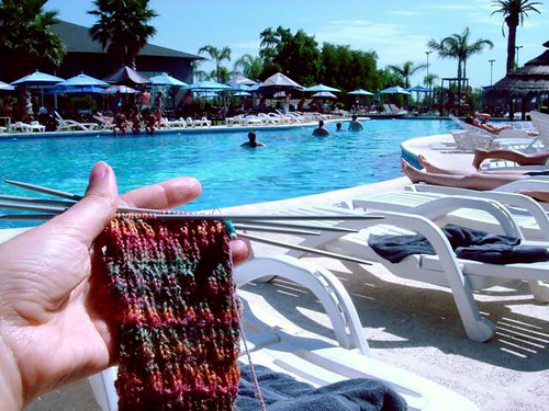 November socks by the pool