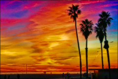 Sunset (ls2_zed) Tags: sunset santamonicabeach hdr lightroom lucisart lucis flickrcolour aplusphoto colourartaward