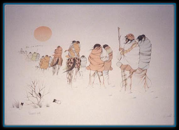 peinture,cherokee,trail of tears,piste des larmes