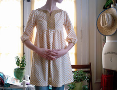 mustard gingham (imaginary animal) Tags: shirt dress sewing blouse gingham homemade frock stitched japanesepattern womensclothing tunic