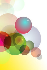 Spherical and colorful bubles iPhone Wallpaper