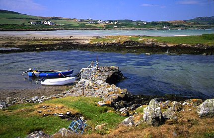 Ardminish Gigha from Gallowhill Copyright Sue Anderson