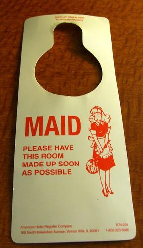 Door Hangar, Please, Maid, House keeping, room cleaning, hotels, Ideas, hotel ideas