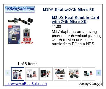 AdSense venta de productos