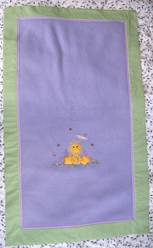 Embroidered wool blanket
