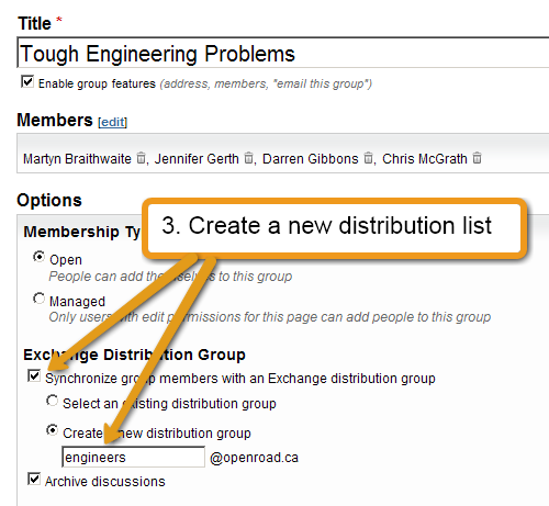 Step 3: Sync with a distribution list