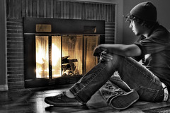 Untitled#1 (Vaka) 9/365 (Panda[stw]) Tags: light white black fire saw fireplace you sat ros sigur along hdr vaka