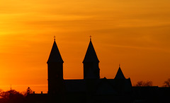 Sunset over Cathedral of Viborg/Sonedgang over Viborg Domkirke 4 (klauzito) Tags: church kirke domkirke viborg cathdral