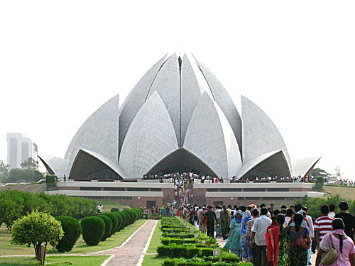 Lotus Temple Delhi The temple is one of the Bahai house of worship.