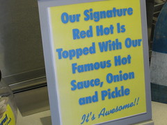 barker's red hots - the signature sign