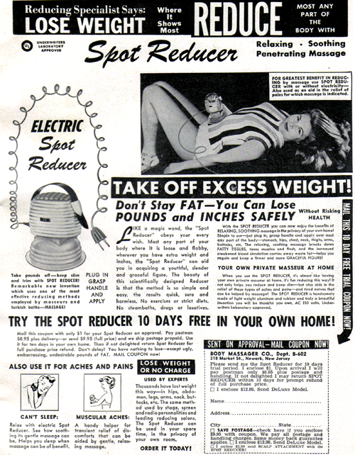 Vintage Ad #804: Electric Spot Reducer