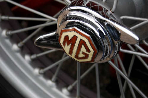 Classic MG Car Badge