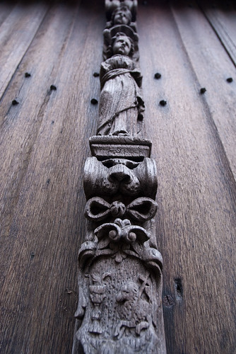 Wooden carving detail
