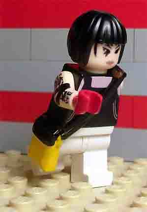 Faith running from Mirrors edge custom minifig