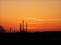 refinery & sunset