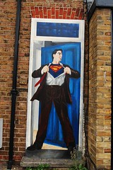 Superman Mural close up