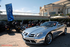 Chromed SLR (Julien Rubicondo Photography - julienrubicondo.com) Tags: blue red sea sky mer cinema black slr water festival museum mercedes benz photo beige shoot photoshoot cannes muse montecarlo monaco mc mercedesbenz carlo monte tuner 2008 rs mb rare 2009 cinma croisette tuners photoshooting carlsson chromed aigner ck65 blanchimont