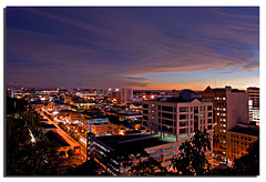 Kota Kinabalu Night Scenery (Nora Carol) Tags: city sky reflection clouds dusk bukitbendera malaysianphotographer noracarol sonyalpha200 sabahsunset signalhills sabahanphotographer kotakinabalunightscenery landscapephotographerfromsabah womanlandscapephotographer womaninphotography