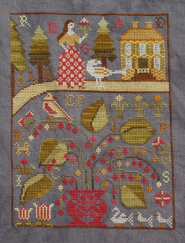 "Carriage House Samplings ""Miss Lila's House"" finished!"
