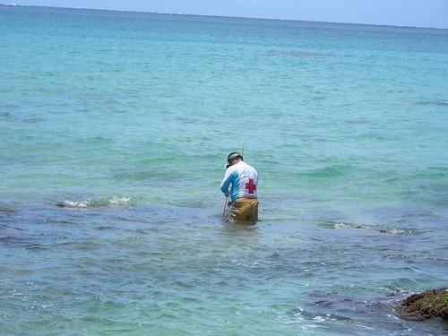 白砂沙灘-漁夫