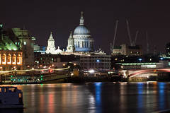 St Paul's Cathedral at Night (Davide Simonetti) Tags: longexposure london thames photo amazing group nightshots stpaulscathedral 1001nights riverthames jol blackfriarsbridge the cotcmostinteresting kartpostal anawesomeshot flickraward platinumheartaward kunstplatzlinternational
