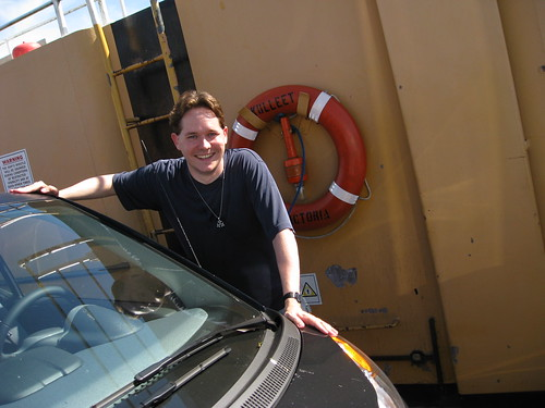 Me & Dr. Car on the Albion Ferry by Kalev.