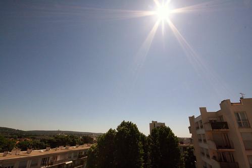 Soleil du matin avec le vertige