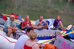 Relaxing before dinner - AZRA Grand Canyon Raft Trip (Al_HikesAZ) Tags: park camping arizona bar nationalpark whitewater quote grandcanyon grand canyon rafting national coloradoriver raft azra guides boatman rafts inthecanyon boatmen 大峽谷 grandcanyonnationalpark gcnp innergorge グランドキャニオン crystalrapid alhikesaz 亚利桑那 亞利桑那 gc2009 arizonaraftadventures braddimock tentbelowtherim dirkprately nealmacadam fayeatkinson
