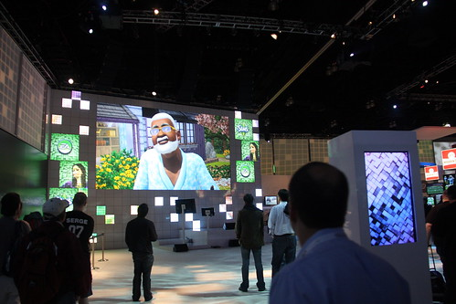 A video showing The Sims 3 in EAs booth at E3 2009 (click).