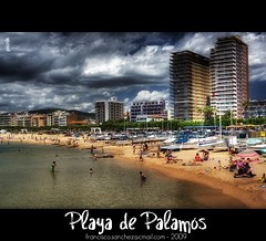 Playa de Palams (Francisco Snchez) Tags: blue sky costa building beach azul clouds port canon puerto agua playa arena cielo nubes 1855mm brava hdr costabrava picnik orton tierra palams edicios specialtouch photoshopcreativo lesamisdupetitprince franxyz