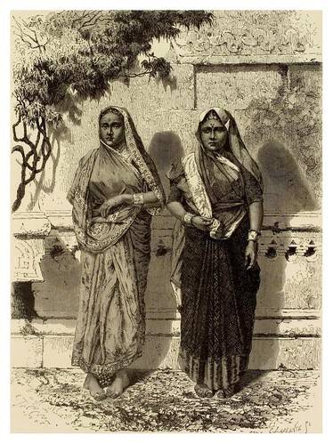 007- Mujeres indias en Festansuge-La India en palabras e imágenes 1880-1881- © Universitätsbibliothek Heidelberg
