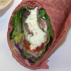 Jamba Juice - Greek Goodness Wrap, closeup