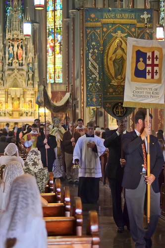 Saint Francis de Sales Oratory, in Saint Louis, Missouri, USA - start of Corpus Christi procession in church