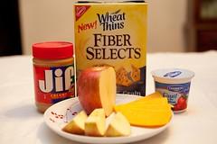 various high fiber/protein snacks