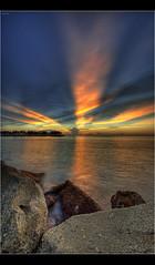 Rays (mubarak.mashor) Tags: sunset nikon rays fullframe nikkor fx brunei f28 hdr d3 tungkubeach 1424mm