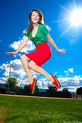 JUMP watermelon shoes (laurenlemon) Tags: park portrait selfportrait me jump jumping shoes colorful baseball watermelon vans sunflare jumpshot jumpology strobist canoneos5dmarkii laurenrandolph laurenlemon