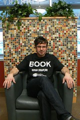 """Jeremy one of our """"Books"""" (London Public Library) Tags: london public book living library diversity human sharing stereotypes understanding libslibs librarieslibrarians"""