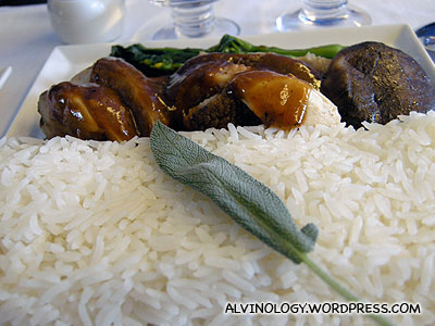 Duck rice main course