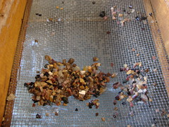 Gravel And Small Gemstone Pieces At The Bottom Of My Mining Box. (dccradio) Tags: travel tourism stone wisconsin rocks downtown stones mining dirt amethyst ruby panning quartz gems wi emerald wisconsindells miner onyx dells gravel gemstone preciousstones riverdistrict sifting woodenbox dellsminingco downtownwisconsindells dellsriverdistrict dellsminingcompany