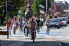 Viele Radfahren in Kopenhagen