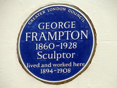 Photo of George Frampton blue plaque