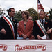 Danny Aiello, Christine Todd Whitman and Ace Alagna on the dias at the 1995 Columbus Day Parade